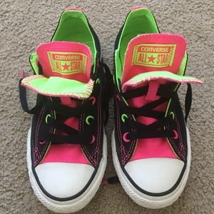 Kids Converse All Star Chucks Neon Size 1 Sneakers